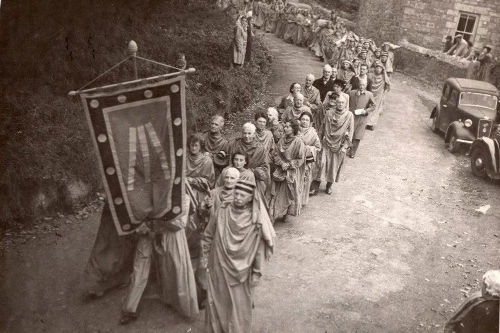 The Gorsedd procession to Carwynnen Quoit 1948